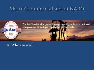 Short Commercial about NARO