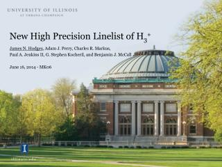 New High Precision  Linelist  of H 3 +