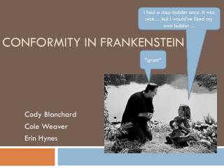Conformity in Frankenstein