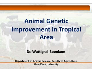 Animal Genetic Improvement in Tropical Area
