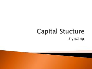 Capital Stucture