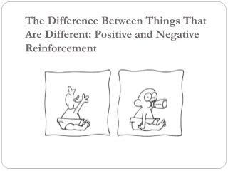 The Difference Between Things That Are Different: Positive and Negative Reinforcement