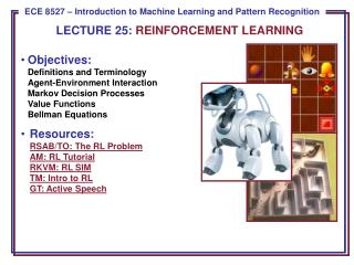 LECTURE  25:  REINFORCEMENT LEARNING