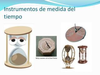 Instrumentos de medida del tiempo