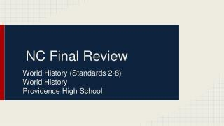 NC Final Review