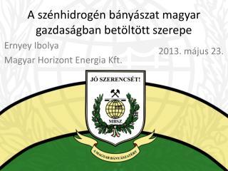 A szénhidrogén bányászat magyar gazdaságban betöltött szerepe