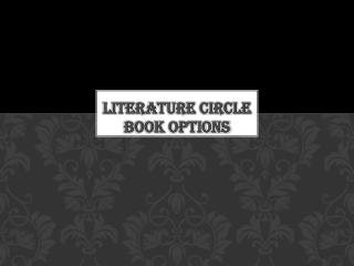 Literature circle book options