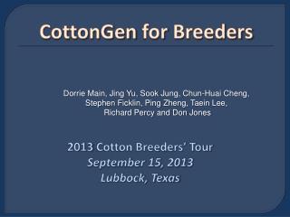 CottonGen  for  Breeders
