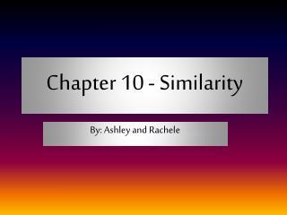 Chapter 10 - Similarity