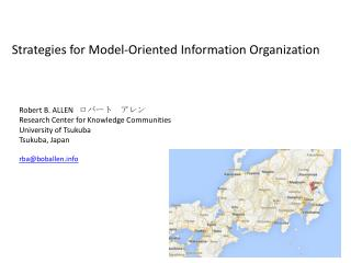 Strategies for  Model-Oriented  Information  Organization