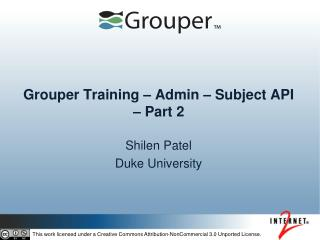 Grouper Training – Admin – Subject API – Part 2