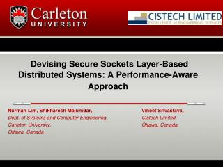 Devising Secure Sockets Layer-Based Distributed Systems: A Performance-Aware Approach
