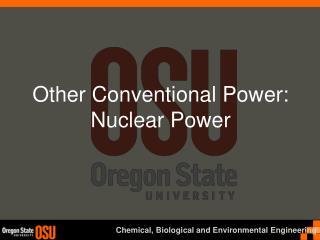 Other Conventional Power: Nuclear Power