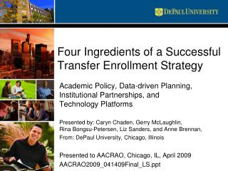 Four Ingredients of a Successful Transfer Enrollment Strategy