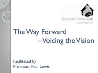 The Way Forward                Voicing the Vision   Facilitated by  Professor Paul Lewis