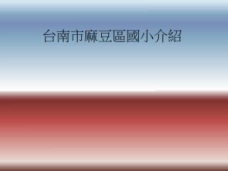 台南市麻豆區國小介紹