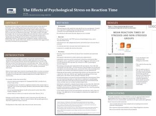 The Effects of Psychological Stress on Reaction Time