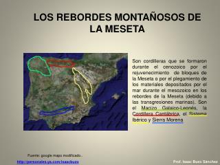 LOS REBORDES MONTAÑOSOS DE LA MESETA