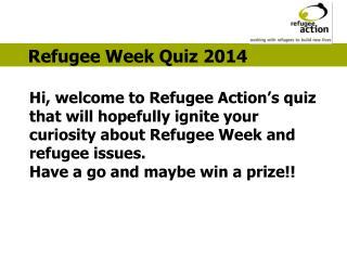 Refugee Week Quiz 2014