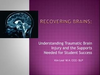 Recovering Brains: