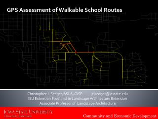 GPS Assessment of  Walkable  School Routes