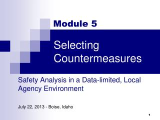 Selecting Countermeasures