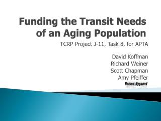 Funding the Transit Needs of an Aging Population