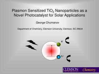 Plasmon Sensitized TiO2 Nanoparticles as a Novel Photocatalyst for Solar Applications