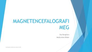 MAGNETENCEFALOGRAFI MEG