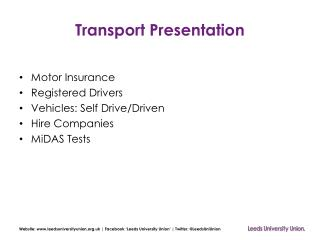 Transport Presentation