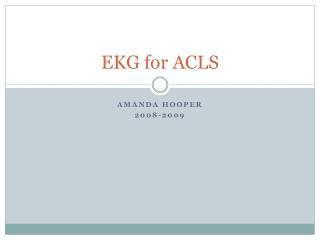 EKG for ACLS