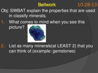 Bellwork  10-28-13