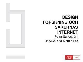 Design Forskning och Sakernas Internet