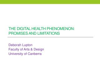 The digital health phenomenon: promises and limitations