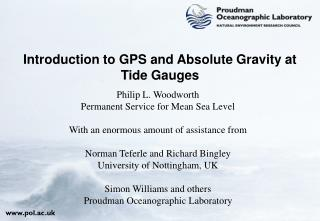 Introduction to GPS and Absolute Gravity at Tide Gauges