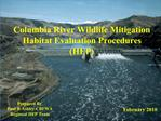 Columbia Basin  Wildlife Mitigation
