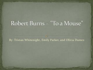 Robert Burns  –
