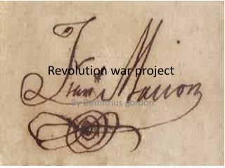 Revolution war project