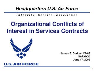 Organizational Conflicts of Interest in Services Contracts