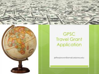 GPSC  Travel Grant Application