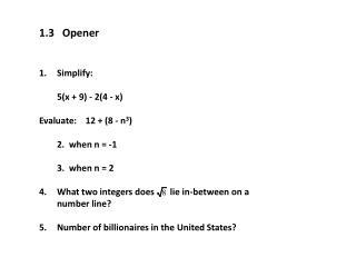 1.3   Opener