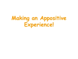 USING APPOSITIVES