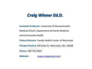 Craig Wiener  Ed.D .