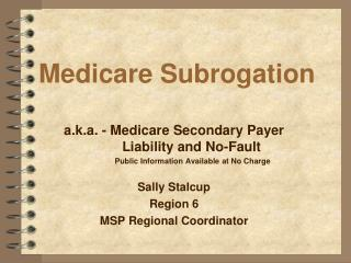 Medicare Subrogation