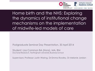 Postgraduate Seminar Day Presentation, 30 April 2014