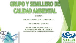 GRUPO Y SEMILLERO DE CALIDAD AMBIENTAL