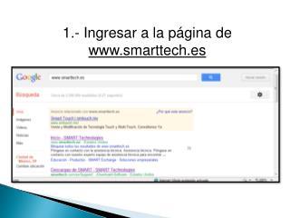 1.- Ingresar a la p�gina de  smarttech.es