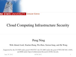 Cloud Computing Infrastructure Security
