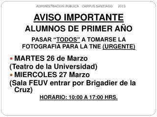 ADMINISTRACION PUBLICA   CAMPUS SANTIAGO     2013