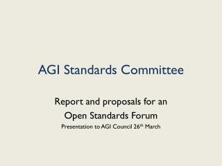 AGI Standards Committee